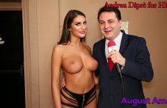 الإباحية مع مقدم البرامج العربية يمارس الجنس مع نجمة Xxx للإناث